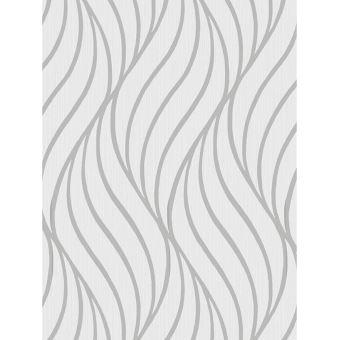Maddox géométrique Vague Papier peint Argent Holden Decor 65261