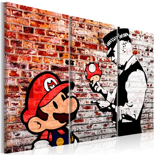 Tableau - Mural on Brick - Décoration, image, art - Art urbain -