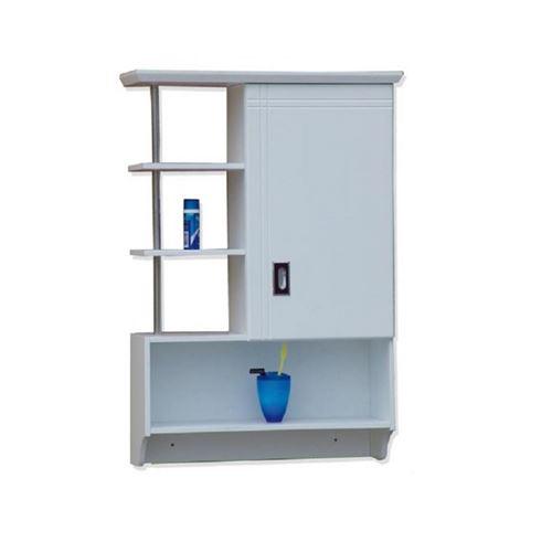 Meuble haut salle bain 1 porte + niches Mobea