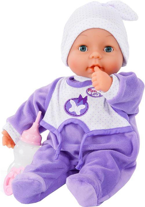 Bayer poupée bébé avec accessoires Piccoline Love violet 38 cm