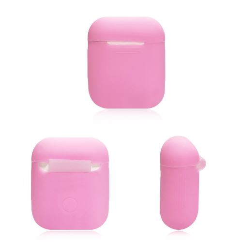 Coque Silicone pour AirPods APPLE Boitier de Charge Grip Housse Protection (ROSE)