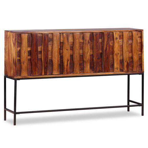 Meelady Buffet en Bois Massif de Sesham Meuble de Rangement pour Salon 120 x 30 x 80 cm
