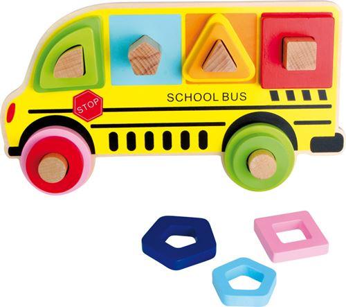 Puzzle À Encastrer Formes Bus Scolaire