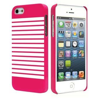 Coque sailor mariniere rose et blanche pour iPhone 5s