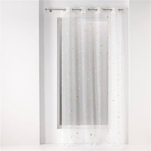 Voilage a oeillets 140 x 240 cm voile imprime metallise danseuse etoile