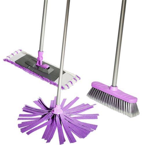 Lifetime Clean kit de nettoyage 120 cm violet 5 pièces