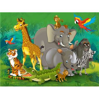 Monde Des Enfants Papier Peint Photo Poster Animaux De La Jungle