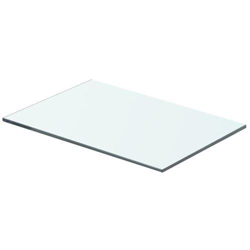 vidaXL Panneau pour étagère Verre transparent 40 x 20 cm
