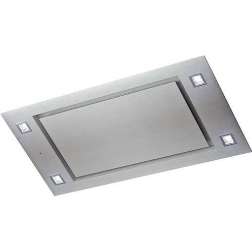 Whirlpool AKR 1050 IX/1 - Hotte - plafond - largeur : 100 cm - profondeur : 50 cm - extraction et recirculation (avec kit de recirculation supplémentaire) - inox