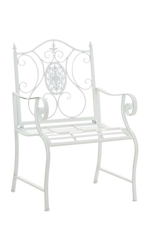 Chaise en fer forgé Punjab , Blanc