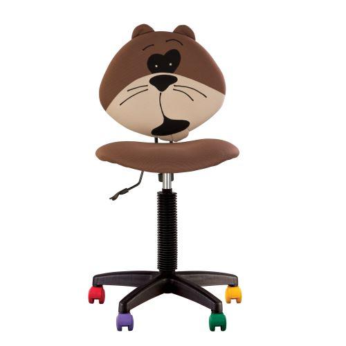 Fauteuil jouet l'ourson, chaise de bureau pour enfant marron