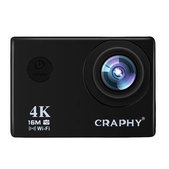Caméra de sport d'action étanche 4K wifi Noir