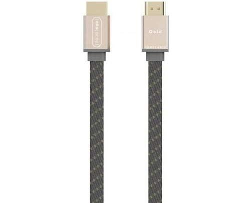 Allocacoc Câble HDMI Plat de 1.5 mètres plaqué Or