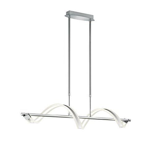 Trio 372910106 sydney lampe suspension deck len led 20 w intensité variable chromé blanc env. 103 cm