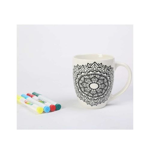 Mug Just Add Colour - 13 x 10 cm - 525 mL - Céramique