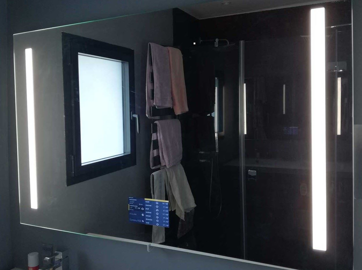 AdNotam, des miroirs intelligents dans votre salle de bain