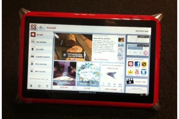 Qooq La Premiere Tablette Tactile Multimedia Pour La Cuisine