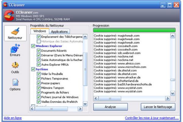 logiciel nettoyage logiciel espion