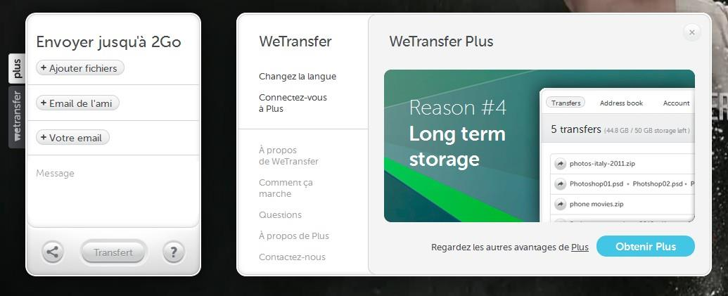 fichier wetransfer sur mac