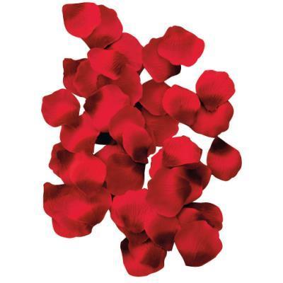 Pétales Roses tissu rouge