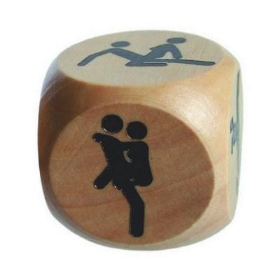 dés positions en bois