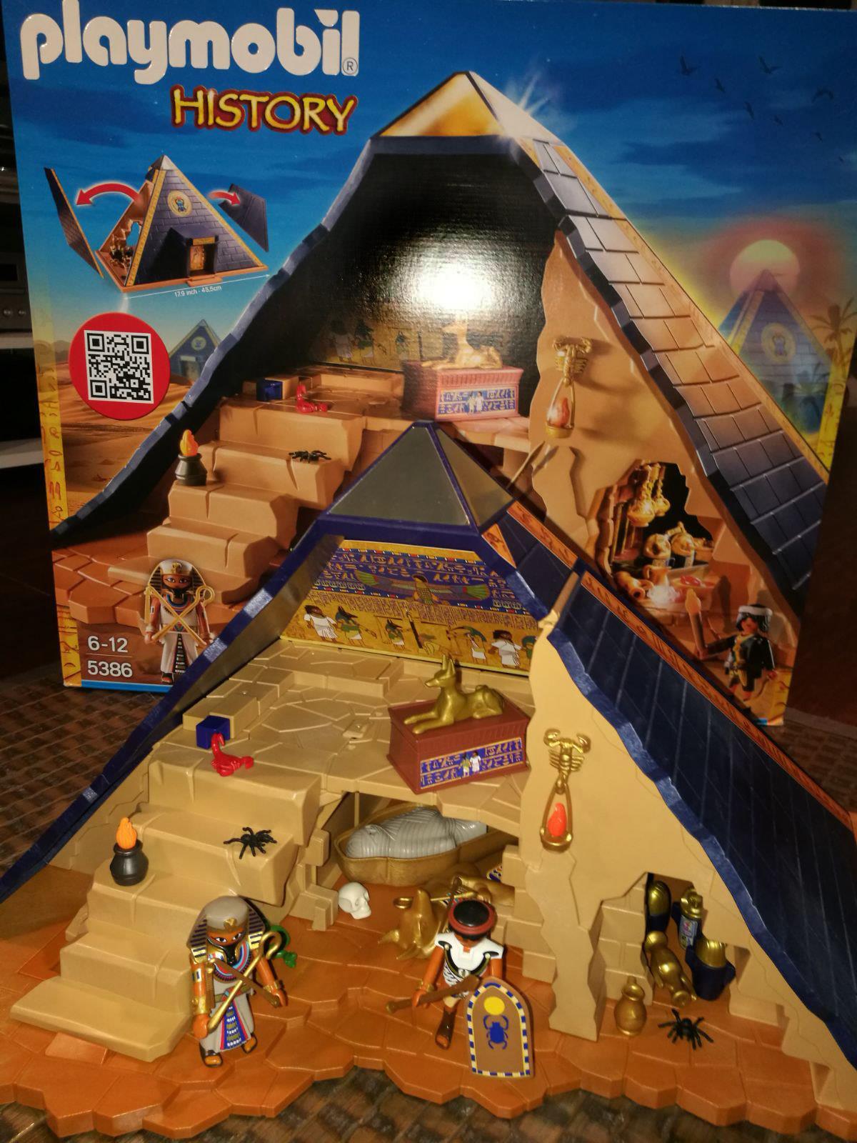 L egypte antique reprend vie avec la pyramide playmobil - Egypte playmobil ...