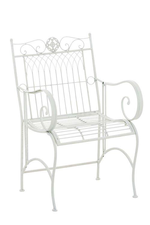 Chaise de jardin en fer forgé Purusha , Blanc