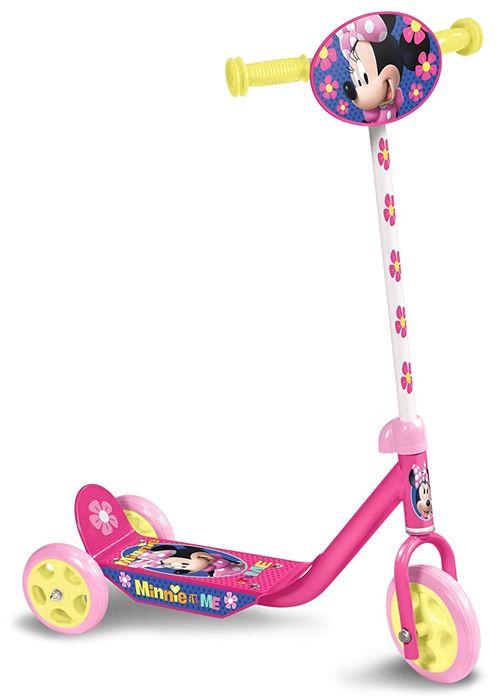 Disney Minnie Mouse 3-wiel kinderstep Marchepied Pour Enfant Fille Frein à pied Rose/Jaune