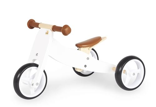 Tricycle en bois Charlie Blanc Naturel