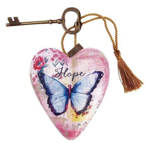 Cœur décoratif thème Papillons