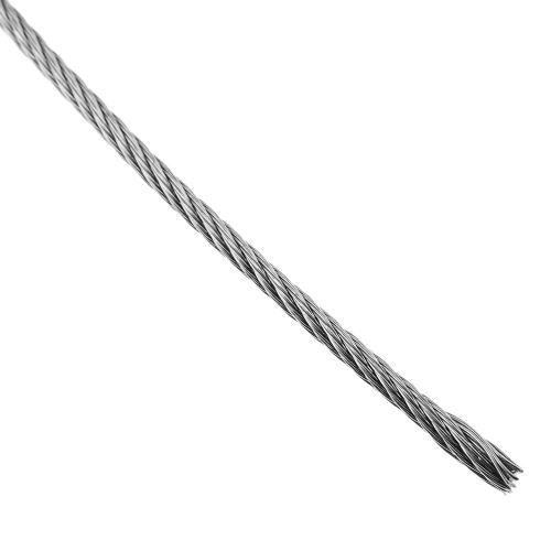 Câble en acier inoxydable de 1,5 mm. Bobine de 25 m