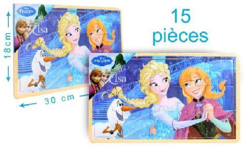 Puzzle en bois 15 pièces reine des neiges