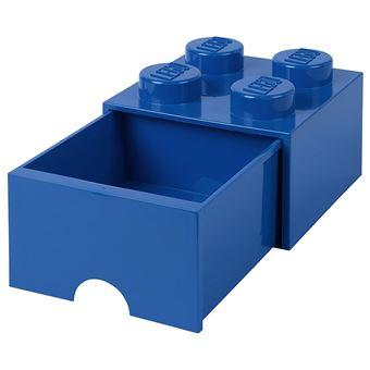 Tiroir En Brique Lego 4 Boutons 1 Tiroir Boite De Rangement Empilable 4 7 L Bleu Decoration De Chambre Achat Prix Fnac
