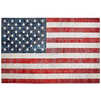 Tapis Drapeau Americain Plat Imprime Usa Achat Prix Fnac