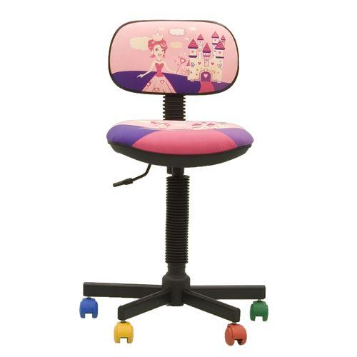 Bambo princesse- chaise de bureau pour enfant tissu rose / violet