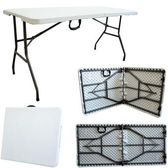 Table en Plastique Robuste, Table Pliante Transportable, 152 x 76 cm ...