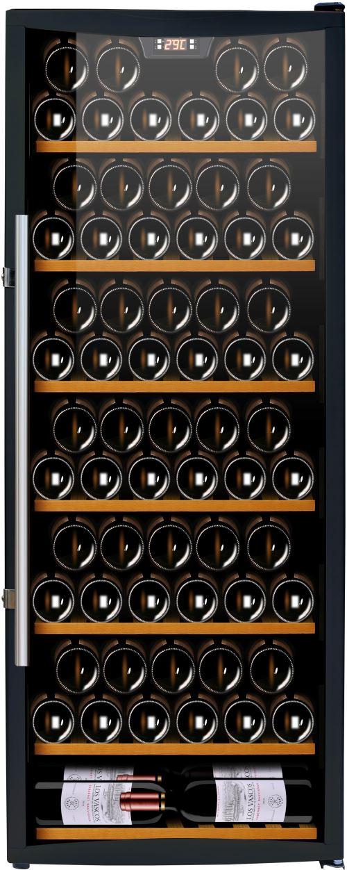 Cave à vin de service - 1 temp. - 110 bouteilles - Noir - CAVISS - ACI-CVS133 - Pose libre