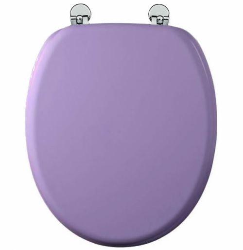 Abattant de toilette Parme en bois compressé MDF Charnière métal Siege WC standard