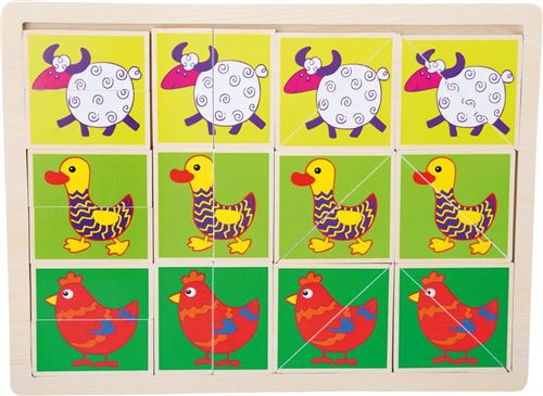 Puzzle Animaux rigolos bois - 10341