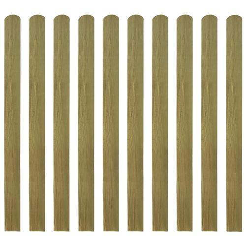 Lattes imprégnées de clôture 20 pcs Bois 120 cm