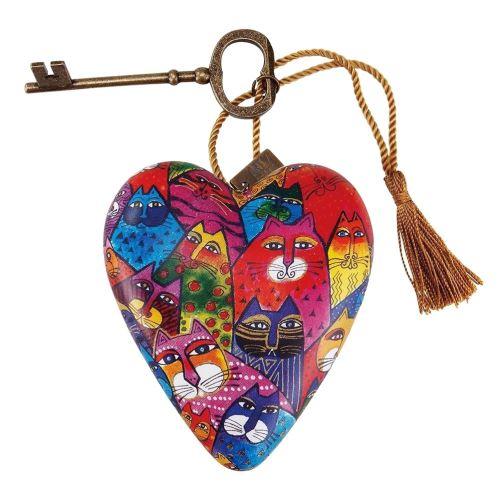 Cœur décoratif thème Chats