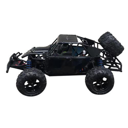 Voiture radio commandée 4WD haute vitesse camion tout-terrain - Noir