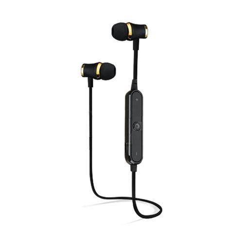 Ecouteurs Bluetooth Anneau avec Telecommande pour Smartphone Sans Fil Bouton Son Kit Main Libre INTRA AURICULAIRE Universel (NOIR)