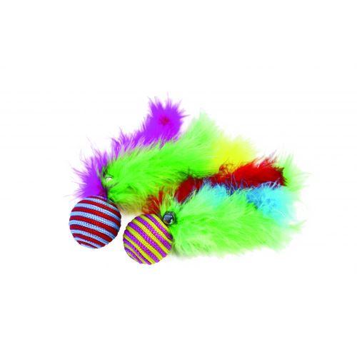 Happy Pet Carnival - Jouet balle pour chat (20 x 4 x 4cm) (Multicolore) - UTBT872