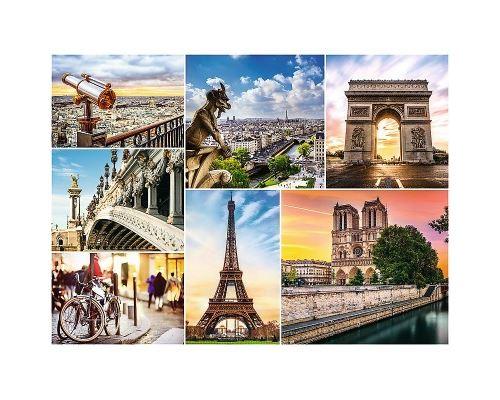 Puzzle 3000 Pièces : Collage - Paris, Trefl