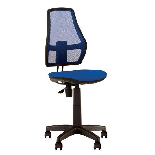 Fauteuil, chaise de bureau pour enfant, dossier en maille fox bleu