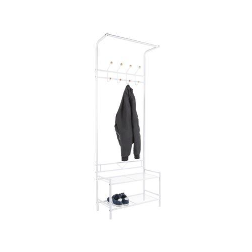 Porte manteau design industriel Saturnus - L. 64 x H. 177 cm - Blanc
