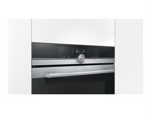 Siemens iQ700 HB674GBS1 - Four - intégrable - niche - largeur : 56 cm - profondeur : 55 cm - hauteur : 58.5 cm - avec système auto-nettoyant - classe A+ - acier inoxydable