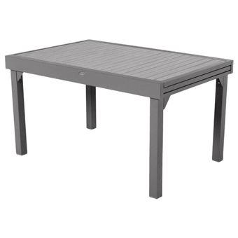 Table extensible 10 places Piazza composite noisette/tonka Hespéride