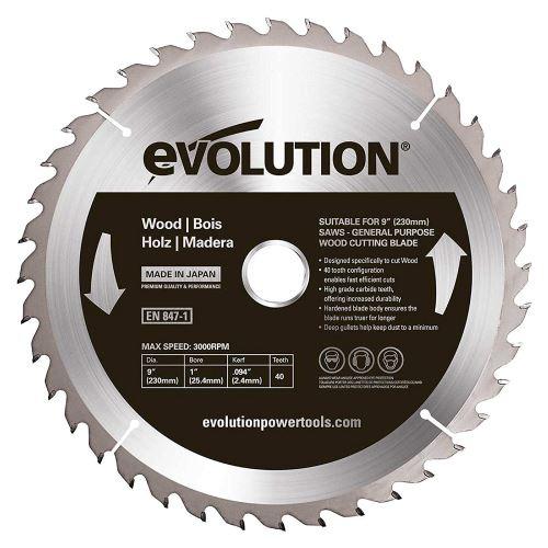 Evolution 230 WD Lame à bois TCT pour scie circulaire 230 mm